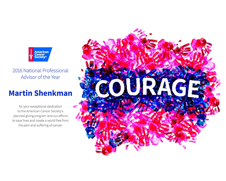 Shenkman ACS Prof Advsr of the Year Award 2016