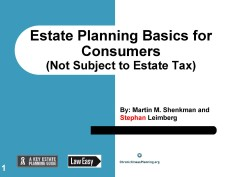 Consumer Basic Estate Planning