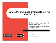 haritable giving after TCJA professional ABF First PageMar 13 2018