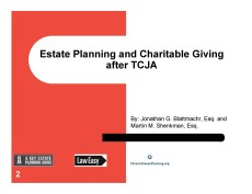 Pages from charitable giving after TCJA professional Sept 4 2018 C FEATURED IMAGE